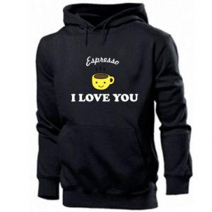 Men's hoodie Espresso. I love you