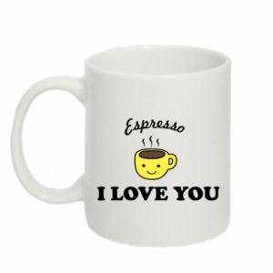 Kubek 330ml Espresso. I love you