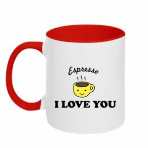 Kubek dwukolorowy Espresso. I love you