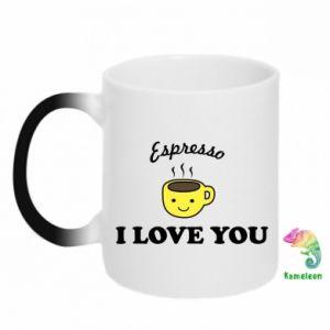 Kubek-kameleon Espresso. I love you