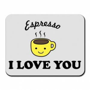 Podkładka pod mysz Espresso. I love you