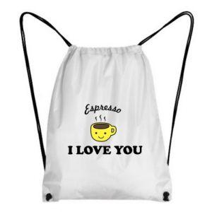 Plecak-worek Espresso. I love you