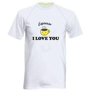 Męska koszulka sportowa Espresso. I love you