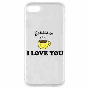 Etui na iPhone 7 Espresso. I love you