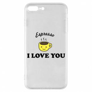 Etui na iPhone 7 Plus Espresso. I love you