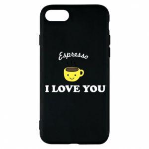 Etui na iPhone 8 Espresso. I love you