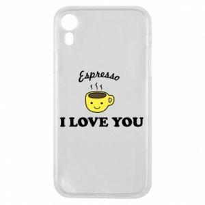 Etui na iPhone XR Espresso. I love you