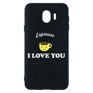 Etui na Samsung J4 Espresso. I love you