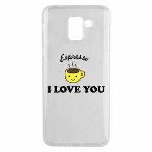 Etui na Samsung J6 Espresso. I love you