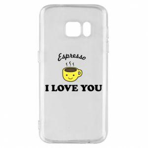 Etui na Samsung S7 Espresso. I love you