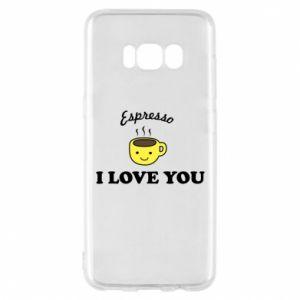 Etui na Samsung S8 Espresso. I love you
