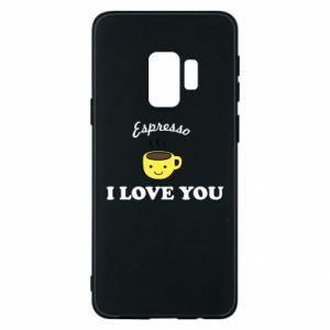 Etui na Samsung S9 Espresso. I love you