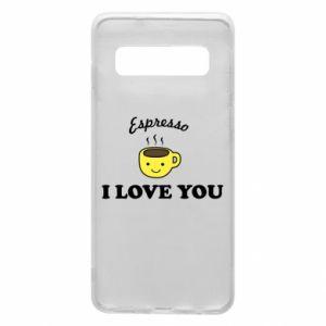 Etui na Samsung S10 Espresso. I love you