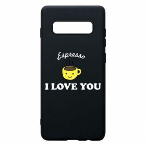 Etui na Samsung S10+ Espresso. I love you