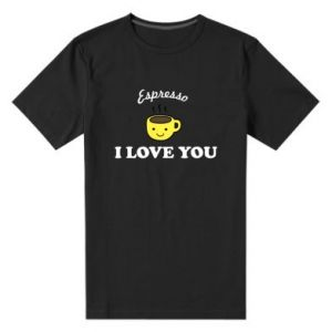 Męska premium koszulka Espresso. I love you