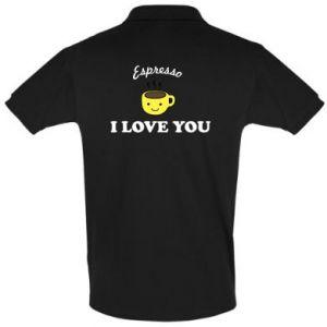 Koszulka Polo Espresso. I love you