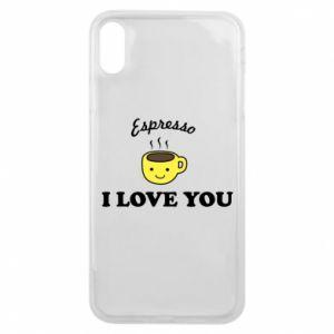 Etui na iPhone Xs Max Espresso. I love you