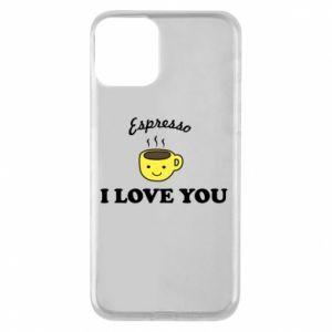Etui na iPhone 11 Espresso. I love you