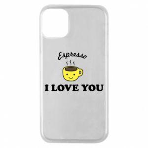 Etui na iPhone 11 Pro Espresso. I love you
