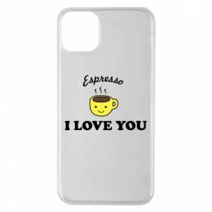 Etui na iPhone 11 Pro Max Espresso. I love you