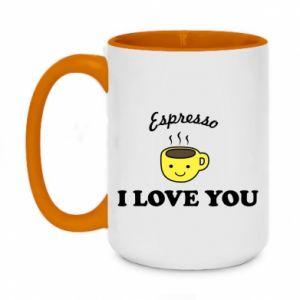 Kubek dwukolorowy 450ml Espresso. I love you