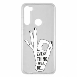 Etui na Xiaomi Redmi Note 8 Every thing will be ok