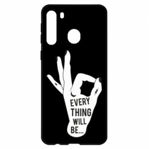 Etui na Samsung A21 Every thing will be ok