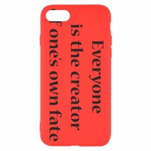 Etui na iPhone SE 2020 Everyone is the creator of one's own fate