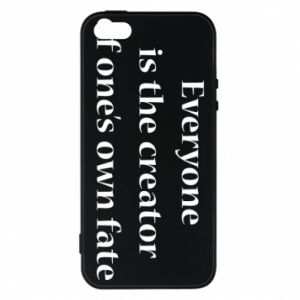 Etui na iPhone 5/5S/SE Everyone is the creator of one's own fate