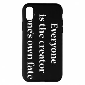 Etui na iPhone X/Xs Everyone is the creator of one's own fate