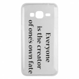 Etui na Samsung J3 2016 Everyone is the creator of one's own fate