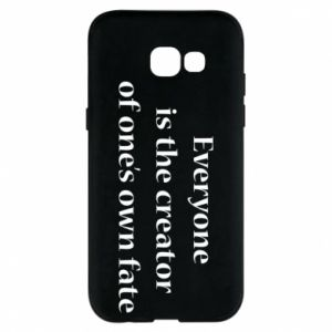 Etui na Samsung A5 2017 Everyone is the creator of one's own fate