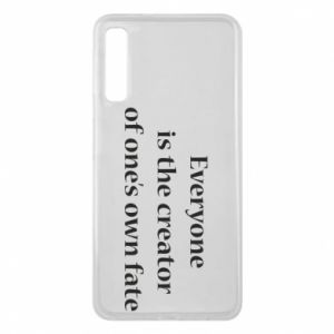 Etui na Samsung A7 2018 Everyone is the creator of one's own fate