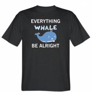 Koszulka męska Everything whale be alright