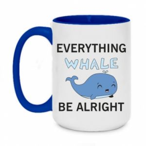 Kubek dwukolorowy 450ml Everything whale be alright