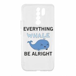 Etui na Xiaomi Redmi 9 Everything whale be alright