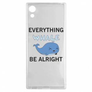 Etui na Sony Xperia XA1 Everything whale be alright