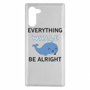 Etui na Samsung Note 10 Everything whale be alright