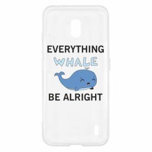 Etui na Nokia 2.2 Everything whale be alright