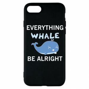 Etui na iPhone SE 2020 Everything whale be alright