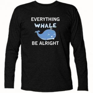Koszulka z długim rękawem Everything whale be alright