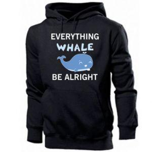 Bluza z kapturem męska Everything whale be alright
