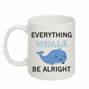 Kubek 330ml Everything whale be alright