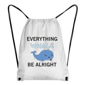 Plecak-worek Everything whale be alright