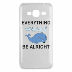 Etui na Samsung J3 2016 Everything whale be alright