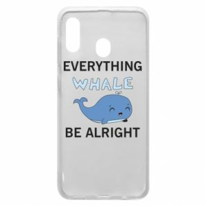 Etui na Samsung A20 Everything whale be alright