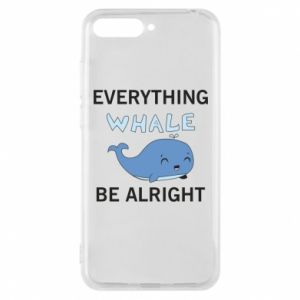 Etui na Huawei Y6 2018 Everything whale be alright