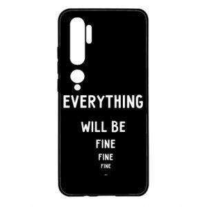 Etui na Xiaomi Mi Note 10 Everything will be fine... fine... fine