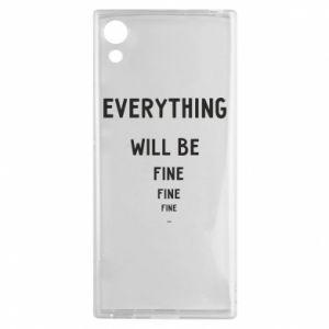 Etui na Sony Xperia XA1 Everything will be fine... fine... fine