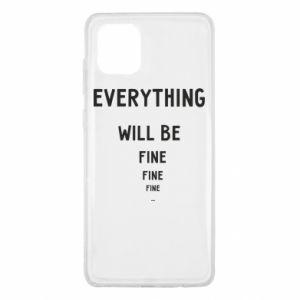 Etui na Samsung Note 10 Lite Everything will be fine... fine... fine